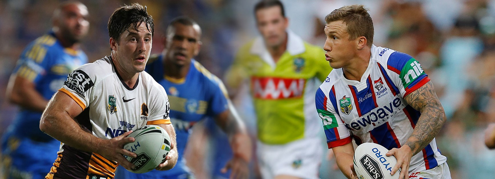 Ben Hunt will take on Trent Hodkinson in a Suncorp Stadium showdown of the halfbacks.