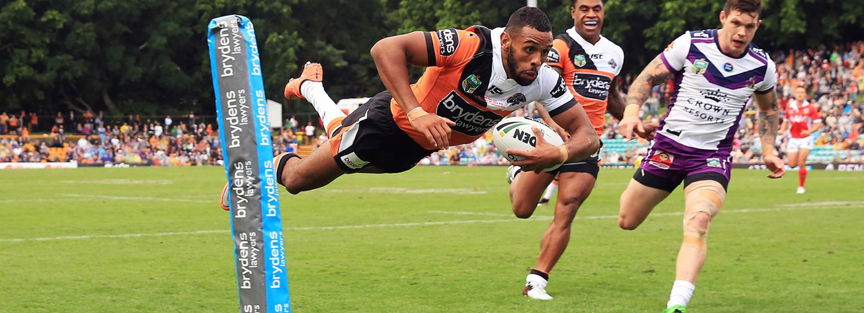 Josh Addo-Carr scored on debut for Wests Tigers against Melbourne.