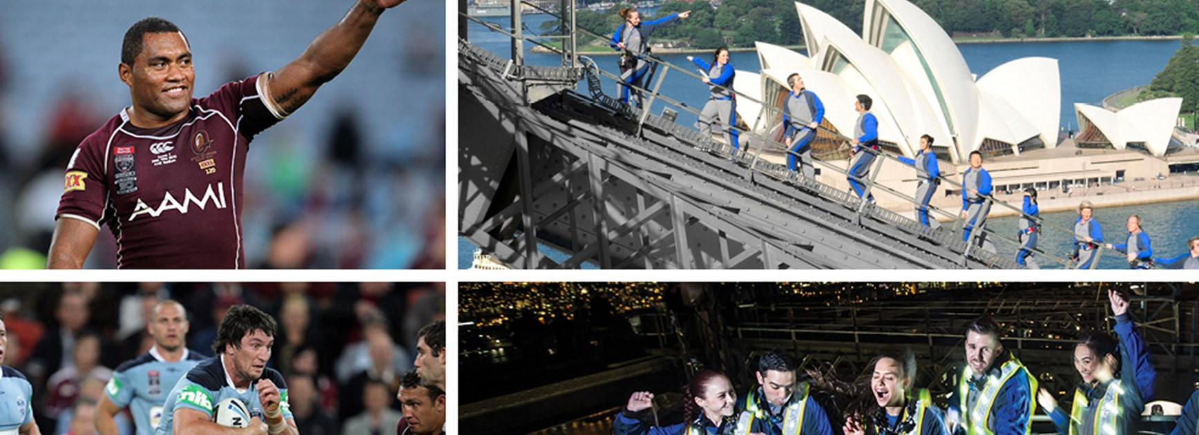 Climb the Sydney Harbour Bridge with legends of State of Origin on the eve of Game One of the 2016 series.
