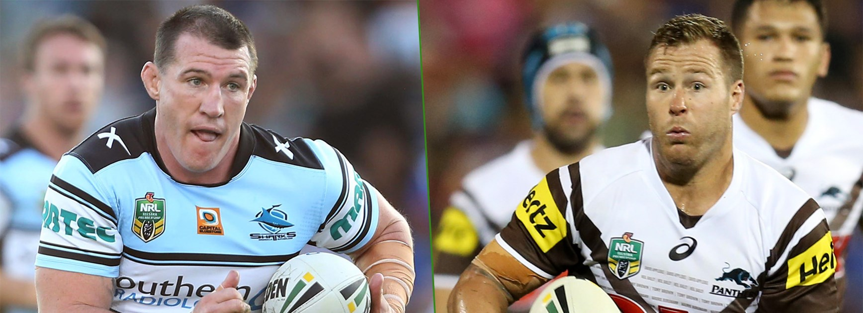 Rival locks and NSW Origin teammates Paul Gallen and Trent Merrin go head-to-head this week.