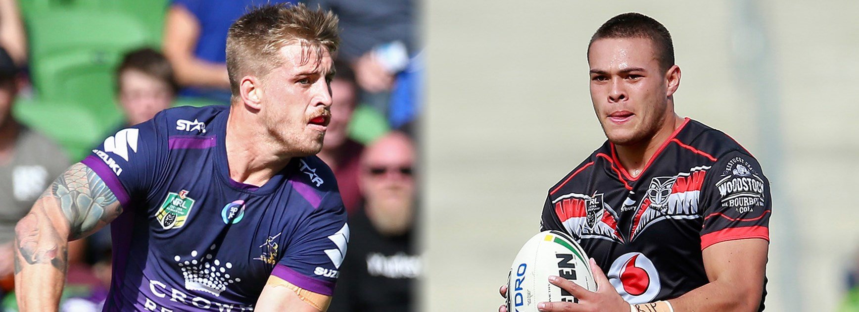 Cameron Munster and Tui Lolohea are both at fullback replacing superstars in their respective teams.