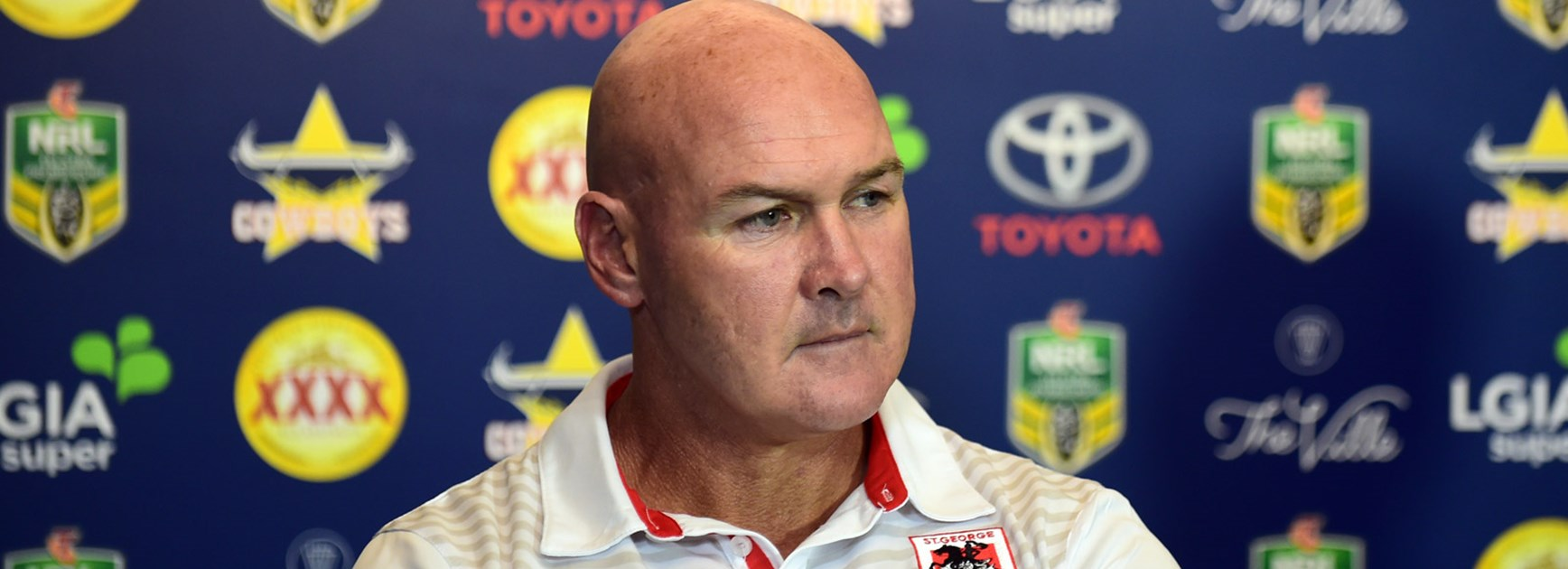 Dragons coach Paul McGregor.