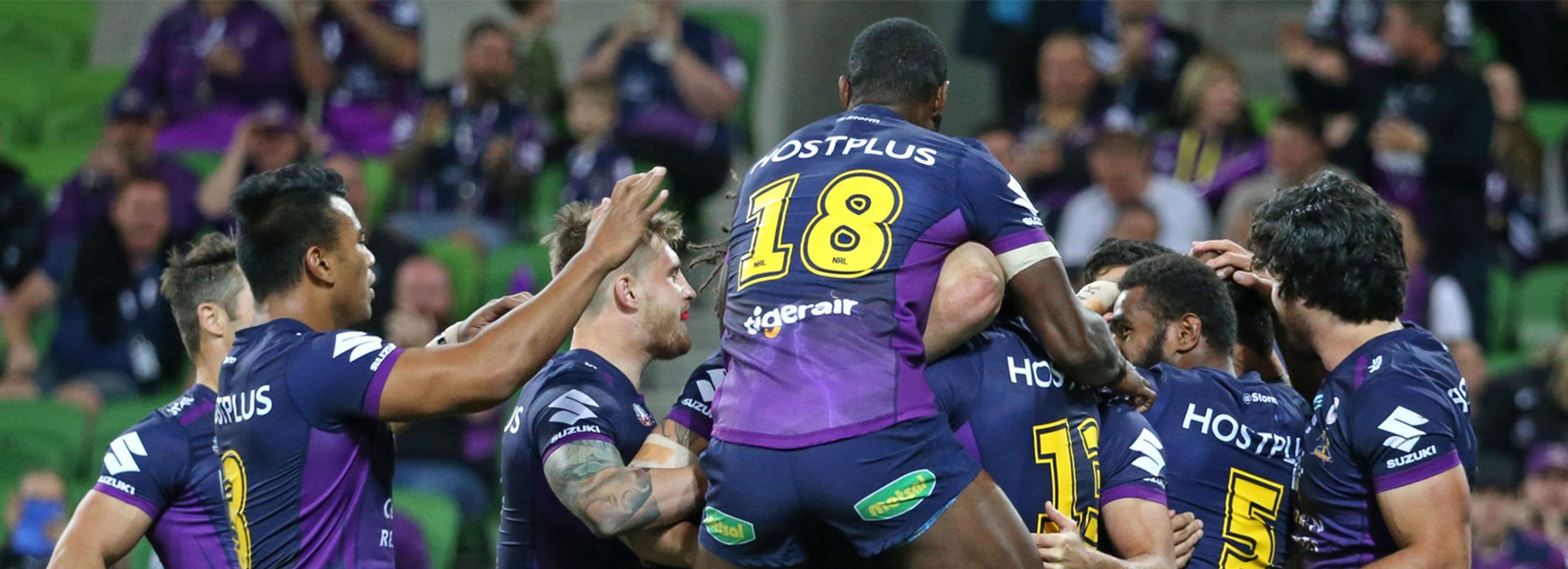 The Melbourne Storm blew the Warriors off the park from the start on Monday night.