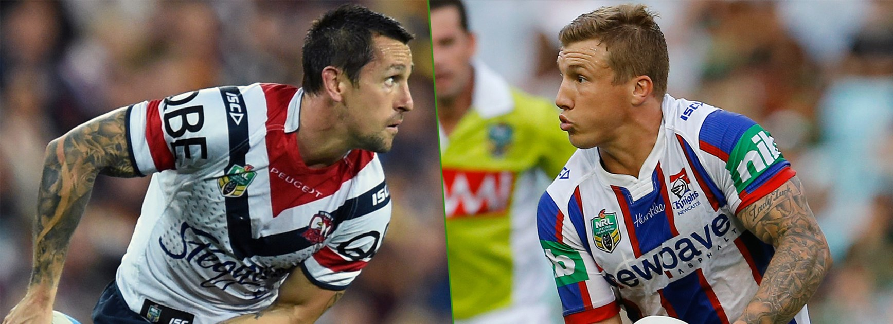 Returning Roosters halfback Mitchell Pearce will line up against his old NSW Origin halves partner Trent Hodkinson this week.
