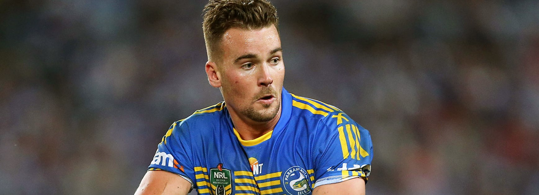 Eels back Clint Gutherson shifted to fullback to replace Michael Gordon in Round 9.