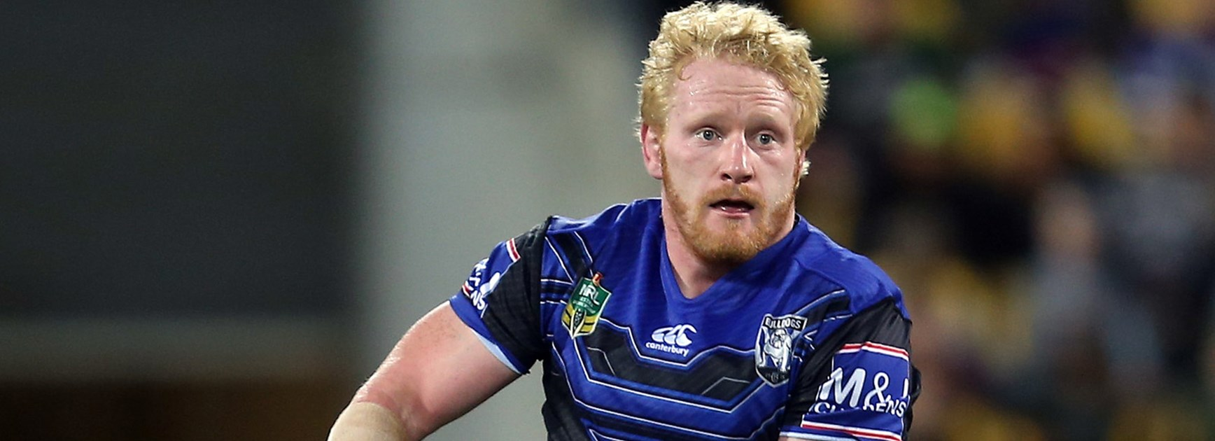 Bulldogs captain James Graham against the Warriors in Round 7.