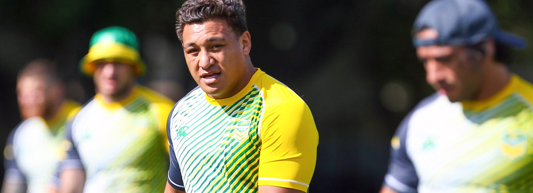 Josh Papalii in training with the Kangaroos ahead of the 2016 Downer Test Match.