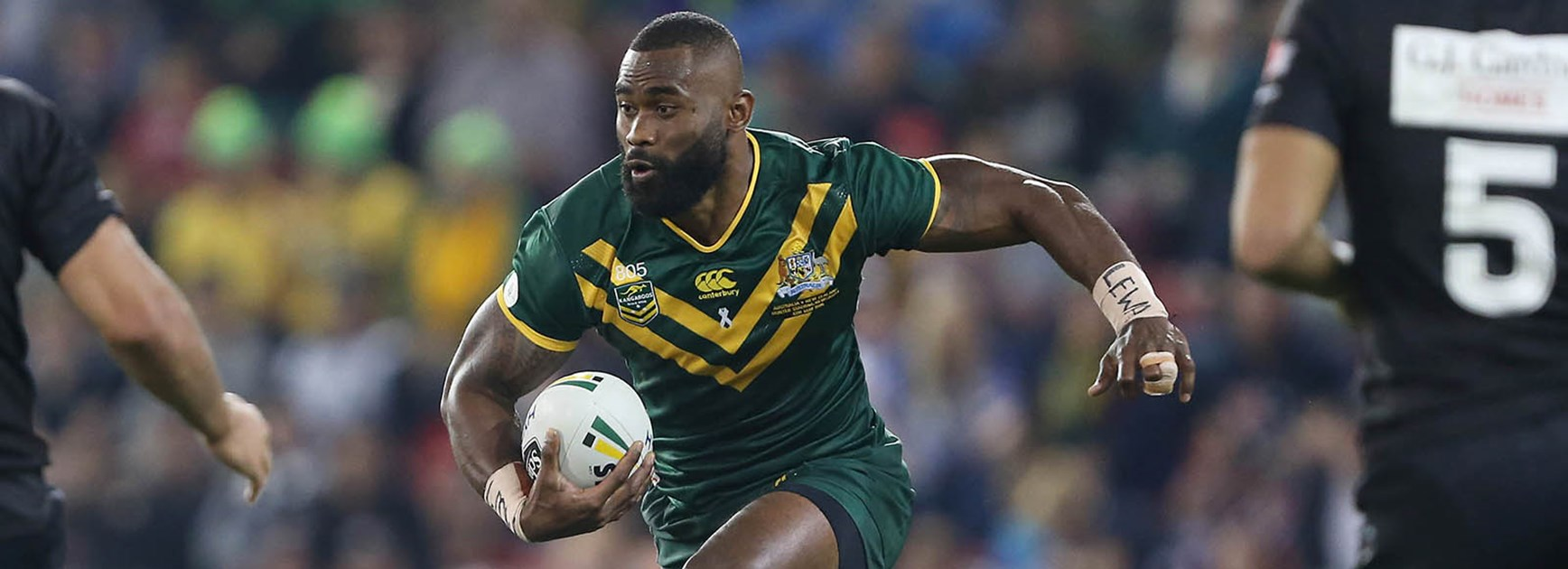 Semi Radradra had a mixed night on his Kangaroos debut.