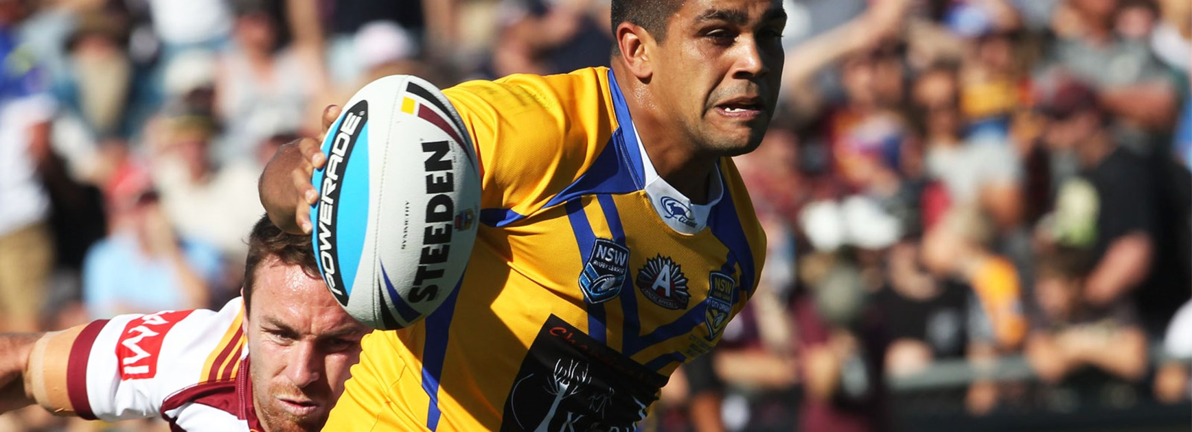 Tyrone Peachey in action for City in the 2015 AAMI Country v City match.