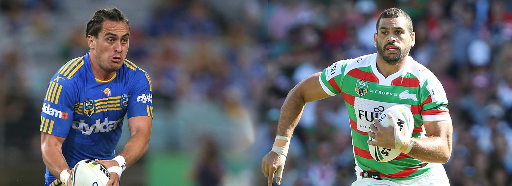 They are two of the biggest five-eighths you are ever likely to see when Brad Takairangi takes on Greg Inglis.