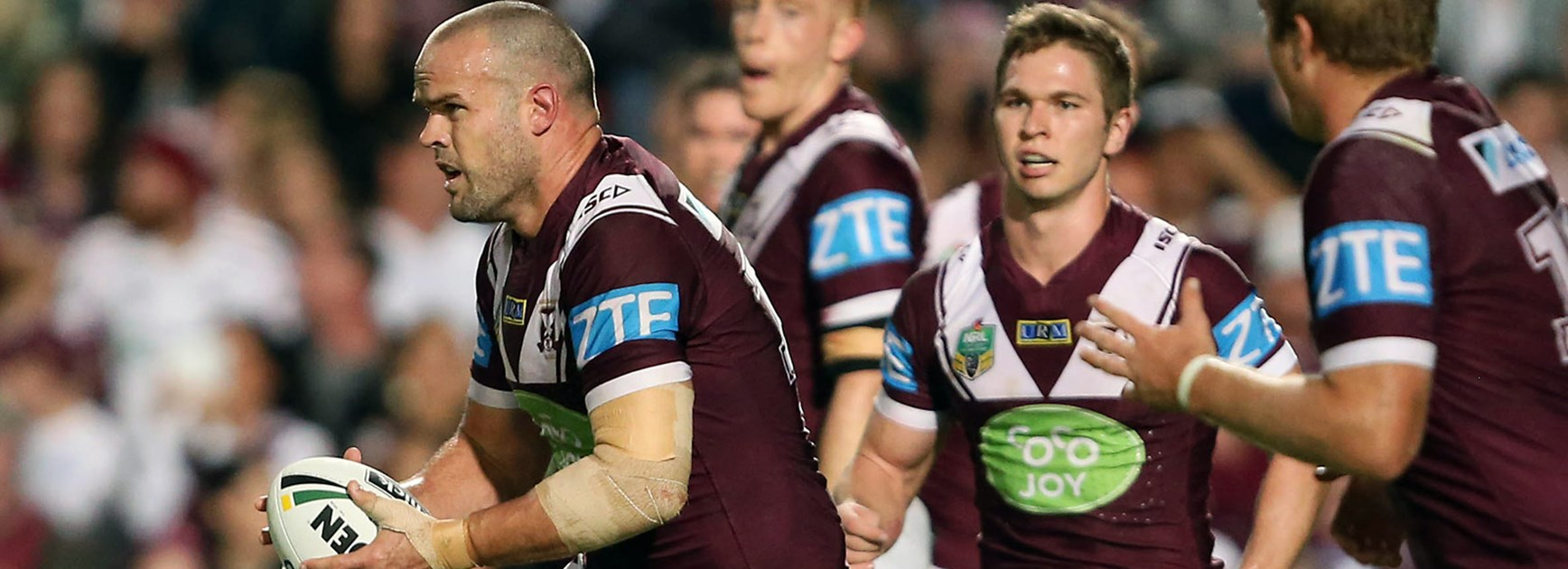 Manly prop Nate Myles is relishing the chance to test himself against a powerful Broncos pack.