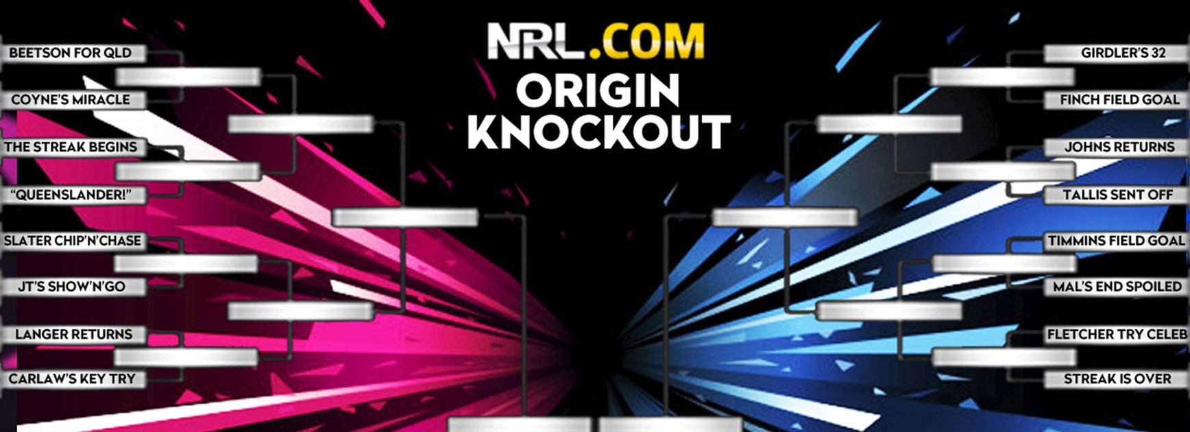 What was your favourite State of Origin moment? Vote in NRL.com's Origin Knockout.