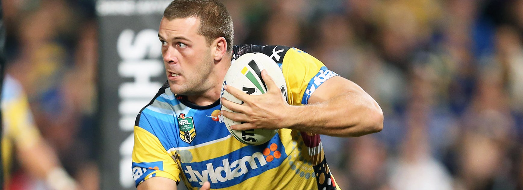 Eels prop Danny Wicks against the Rabbitohs in Round 10.