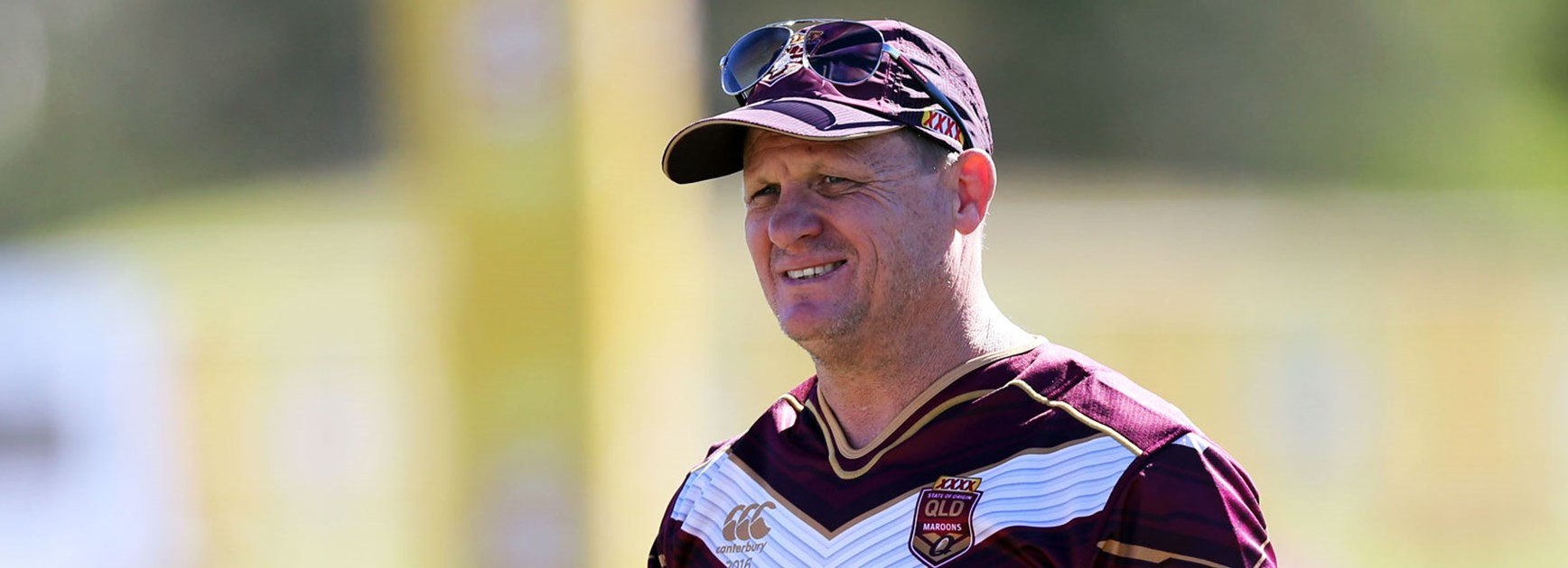 Queensland coach Kevin Walters at training ahead of State of Origin I.