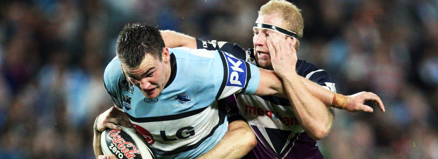 Luke Douglas in action for Cronulla in the game that still haunts him.