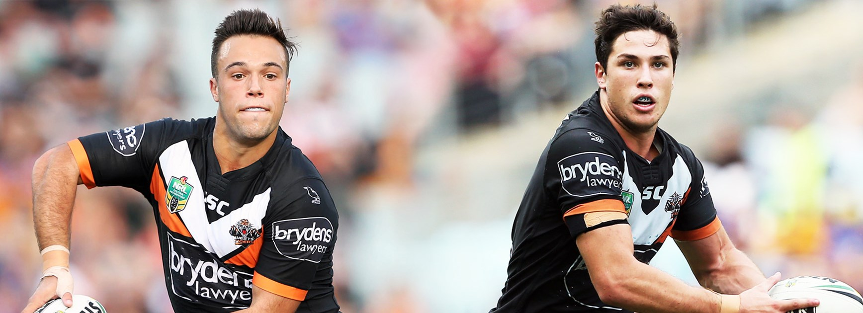 Wests Tigers halves Luke Brooks and Mitch Moses have committed to the club for another season.