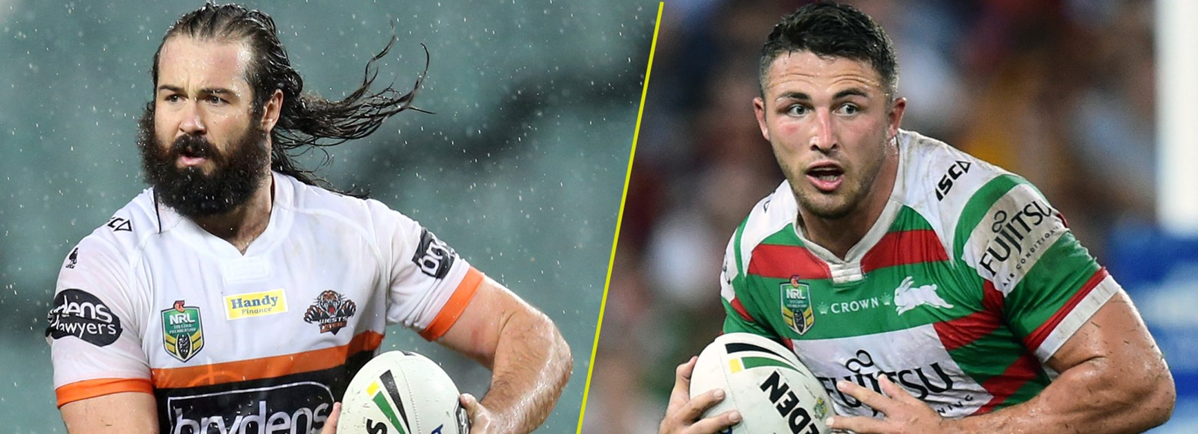 Aaron Woods and Sam Burgess.