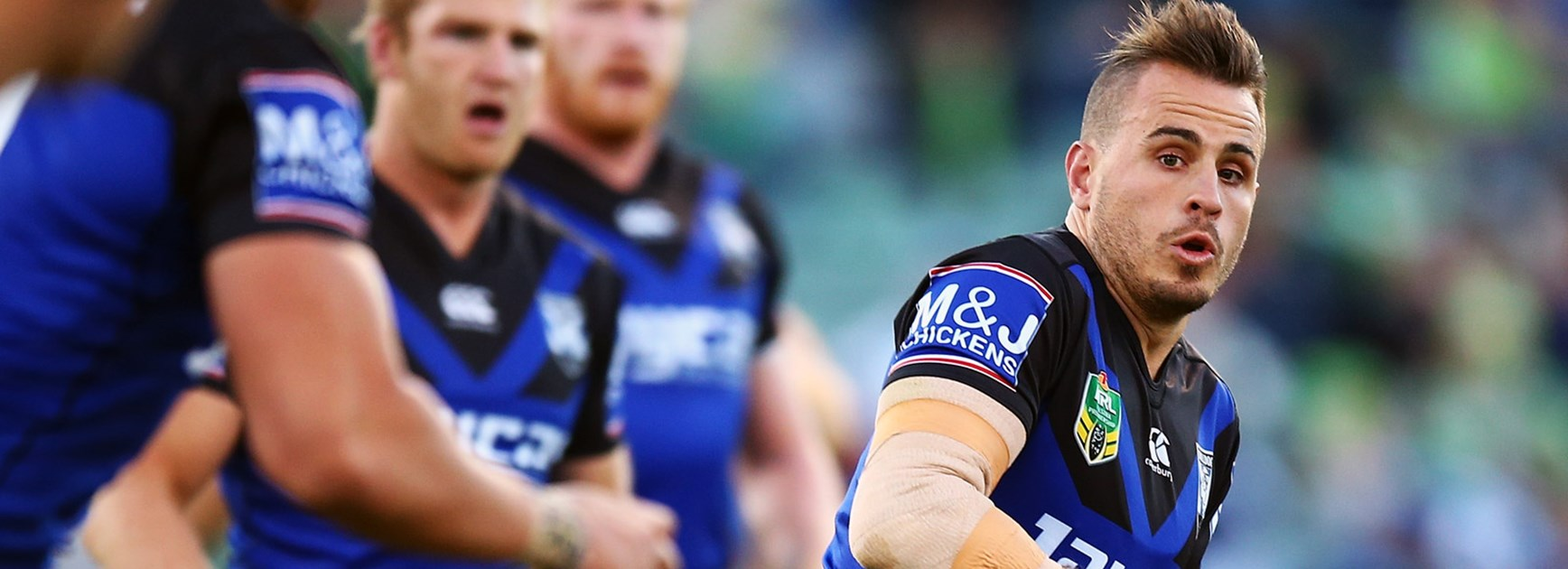Bulldogs playmaker Josh Reynolds has defended his side's fifth-tackle options.