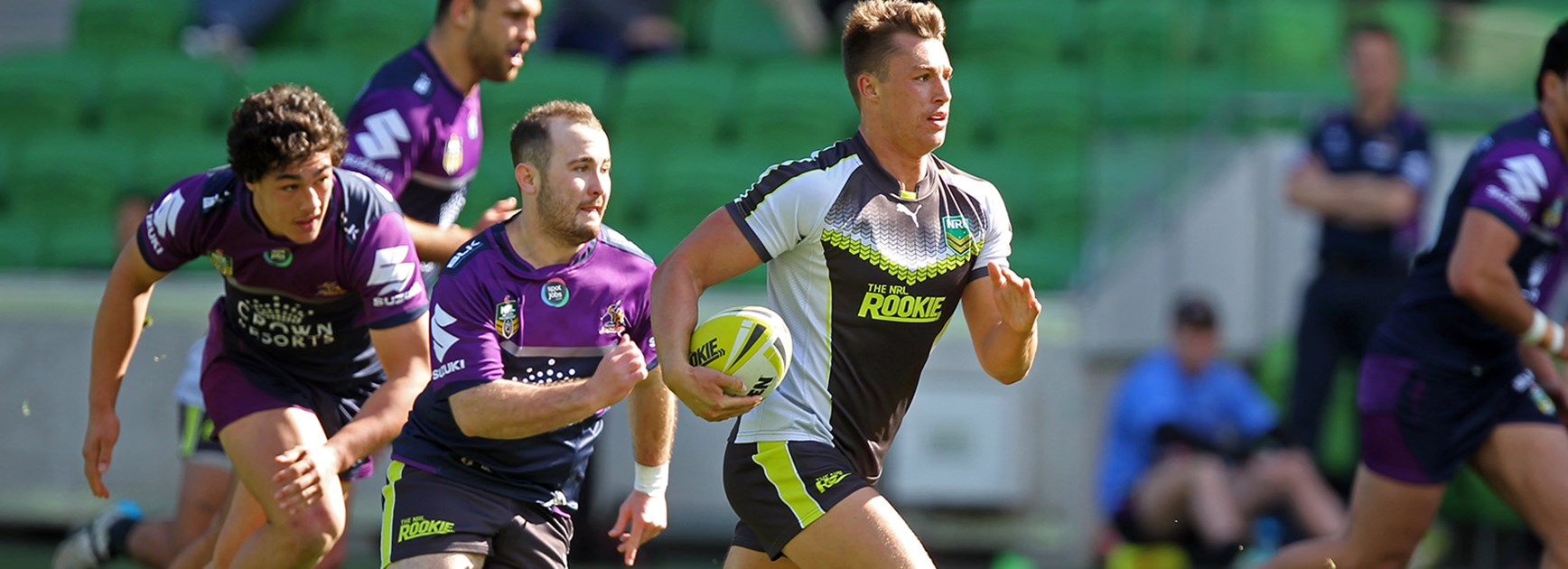 The NRL Rookies took on the Melbourne Storm National Youth Cup team at AAMI Park in Episode 4.