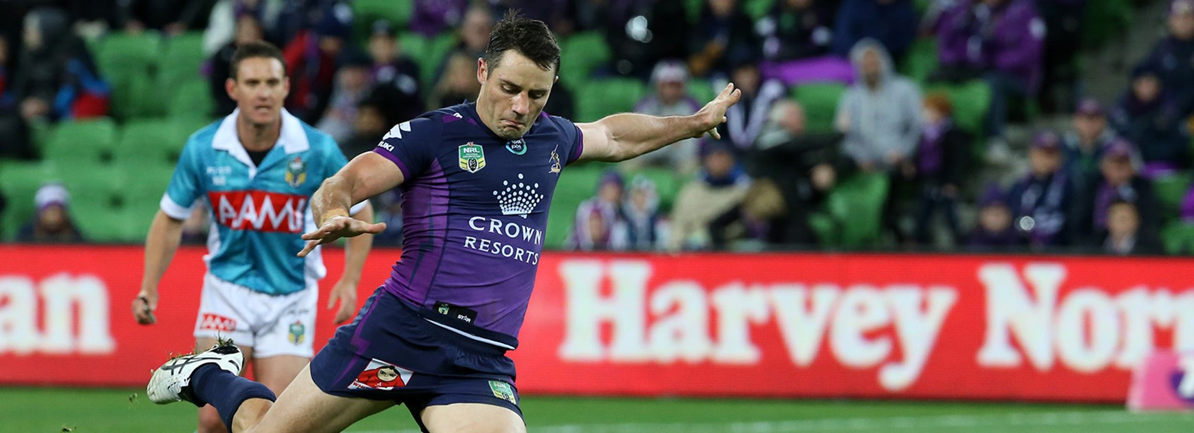 Cooper Cronk joined an elite group of players to reach 200 wins in the NRL.