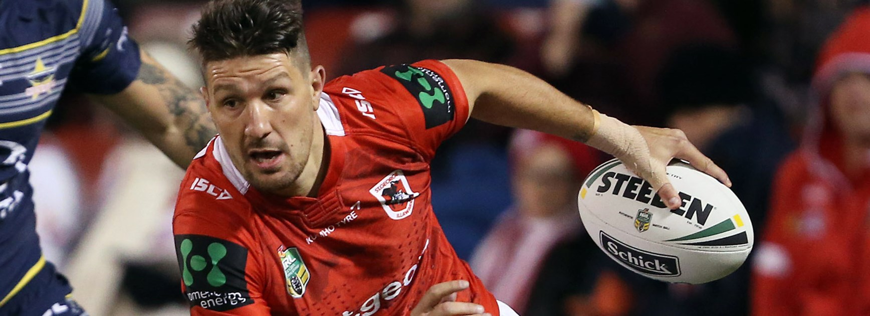 Dragons captain Gareth Widdop against the Cowboys in Round 12.