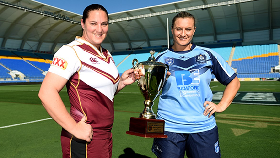 Women's Interstate Challenge captains Steph Hancock and Ruan Sims.
