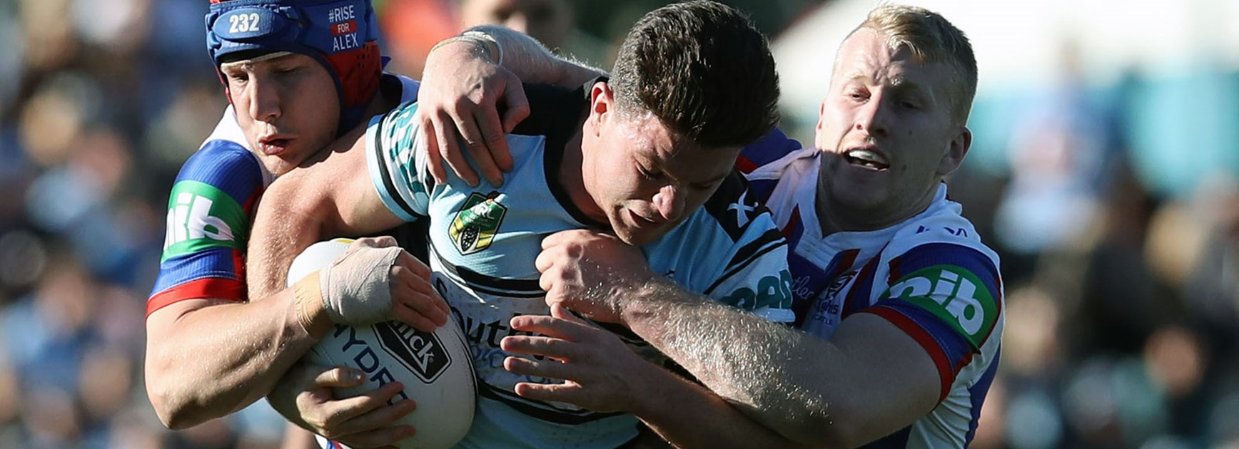 Sharks halfback Chad Townsend against the Knights in Round 20.