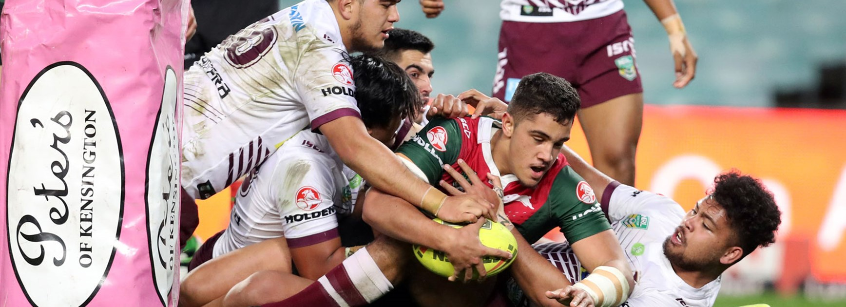 The Rabbitohs downed the Sea Eagles in their Round 20 NYC clash on Monday night.