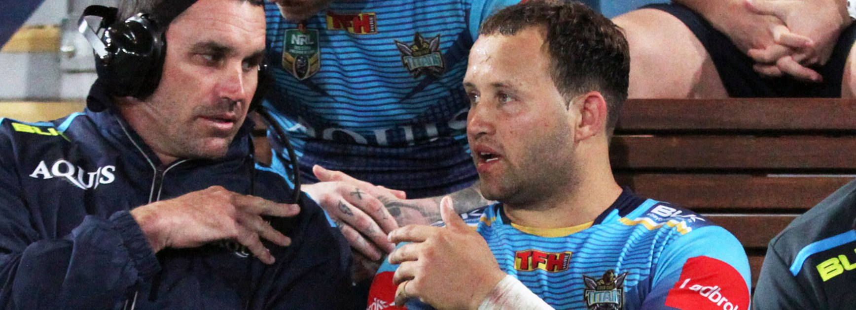 Titans playmaker Tyrone Roberts picked up a knee injury against the Sharks in Round 21.