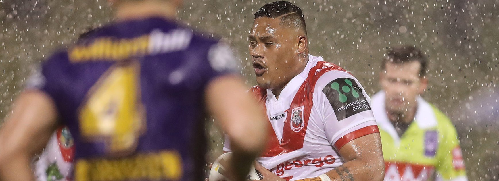 Luciano Leilua made his debut against the Broncos in Round 22.