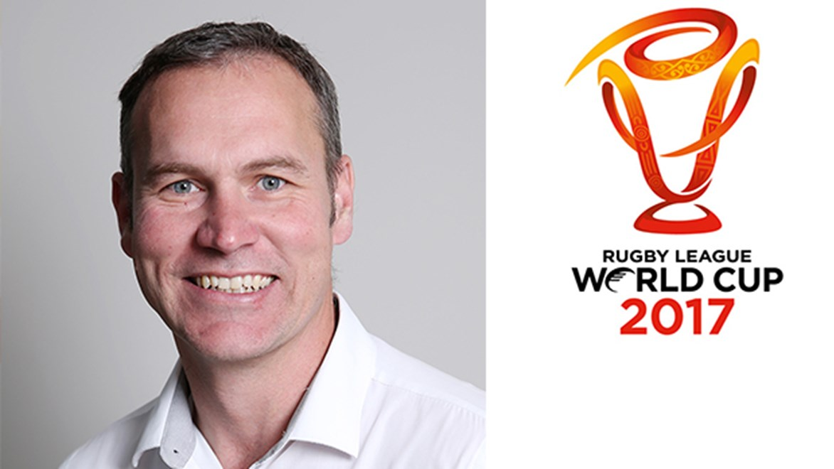 Andrew Hill has been named the new CEO of the Rugby League World Cup 2017.