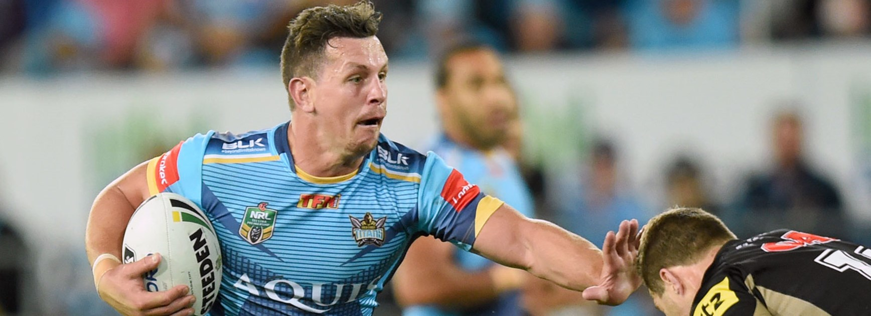 Titans lock Greg Bird against the Panthers in Round 25.