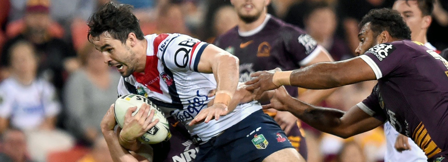 Roosters forward Aidan Guerra against the Broncos.