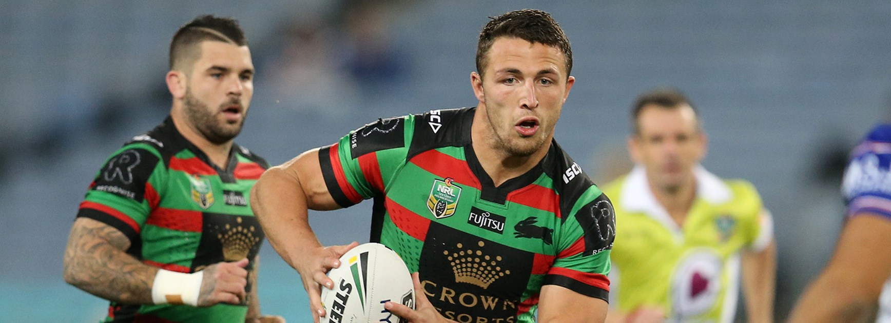 Sam Burgess scored a try against the Bulldogs in Round 26.
