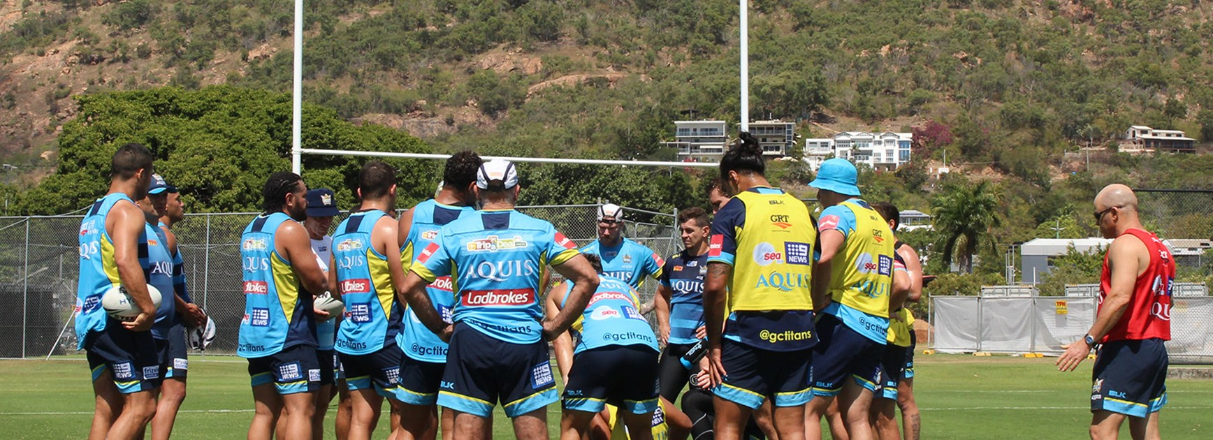 Gold Coast players preparing for a vital clash with the Cowboys.