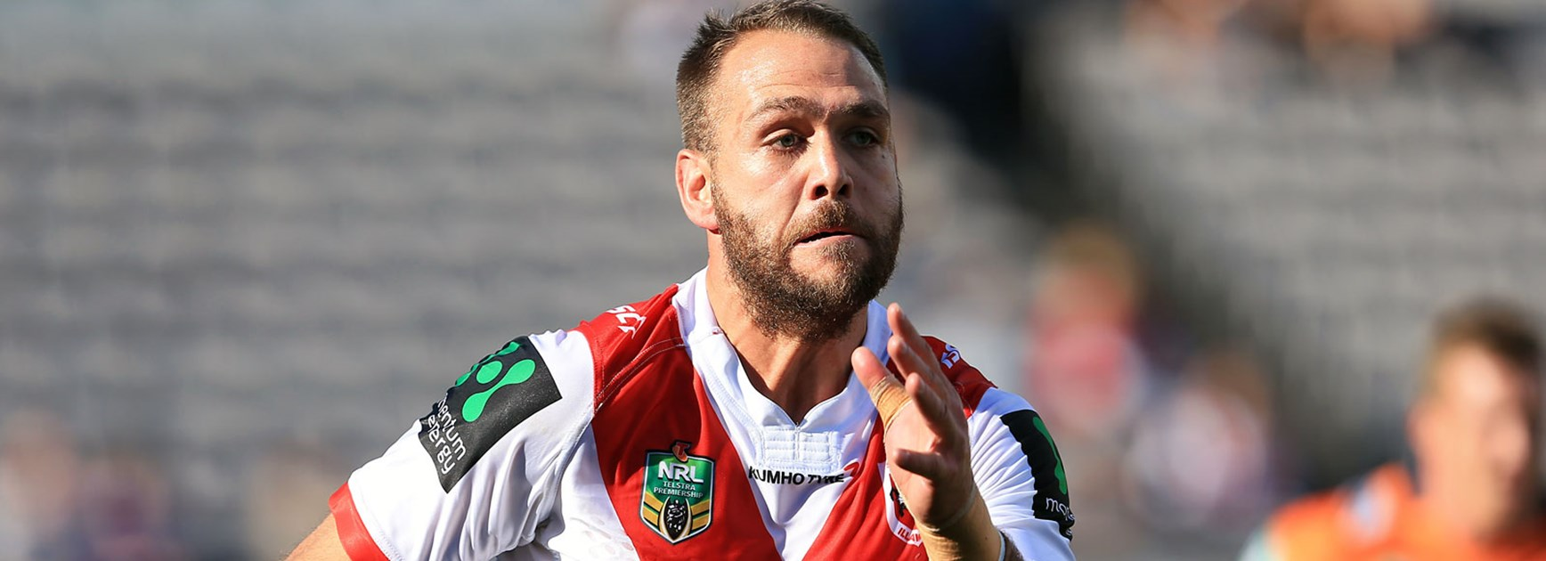Dragons winger Jason Nightingale scored twice against the Knights.