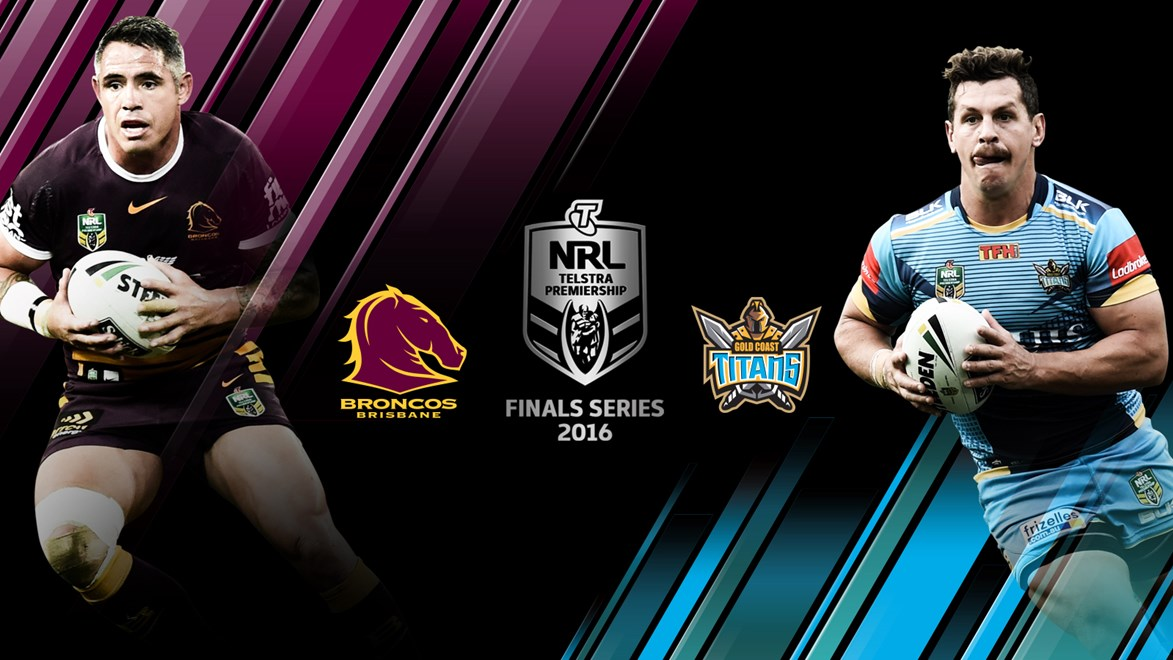 The Broncos and Titans will meet in an elimination final in week one of the Telstra Premiership Finals Series.