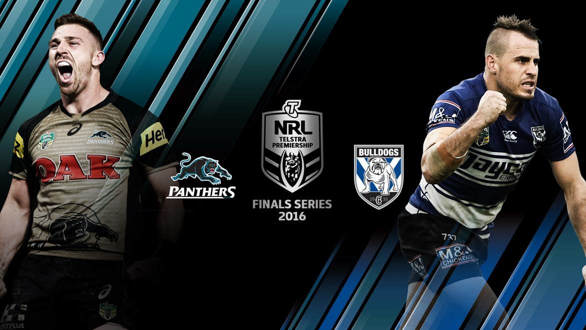 The Panthers and Bulldogs will meet in an elimination final in week one of the Telstra Premiership Finals Series.