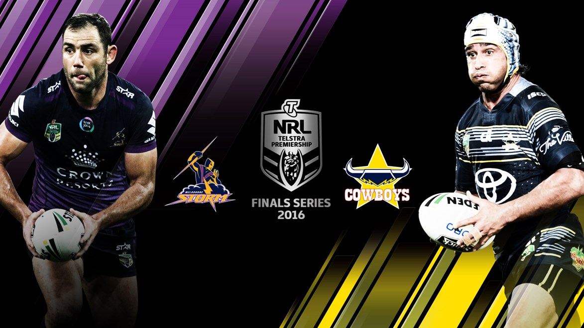 The Storm and Cowboys will meet in an qualifying final in week one of the Telstra Premiership Finals Series.