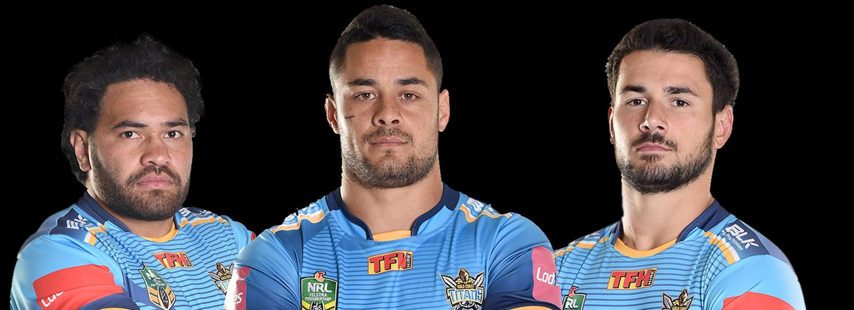 Gold Coast recruits Konrad Hurrell, Jarryd Hayne and Nathan Peats.