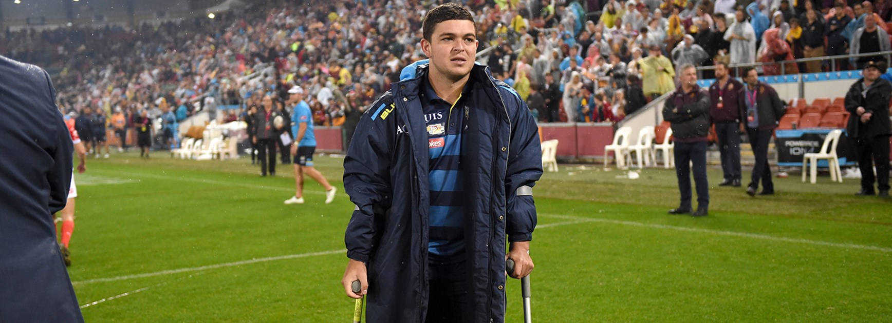 Titans halfback Ashley Taylor was injured in his side's elimination final loss to the Broncos.