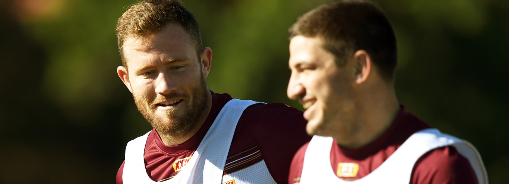 Maroons teammates Gavin Cooper and Matt Gillett will be direct opponents in Friday night's semi-final in Townsville.