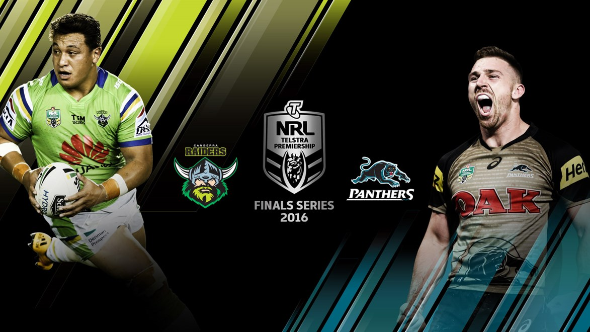 Canberra Raiders and Penrith Panthers go head-to-head in an NRL semi-final in Canberra.