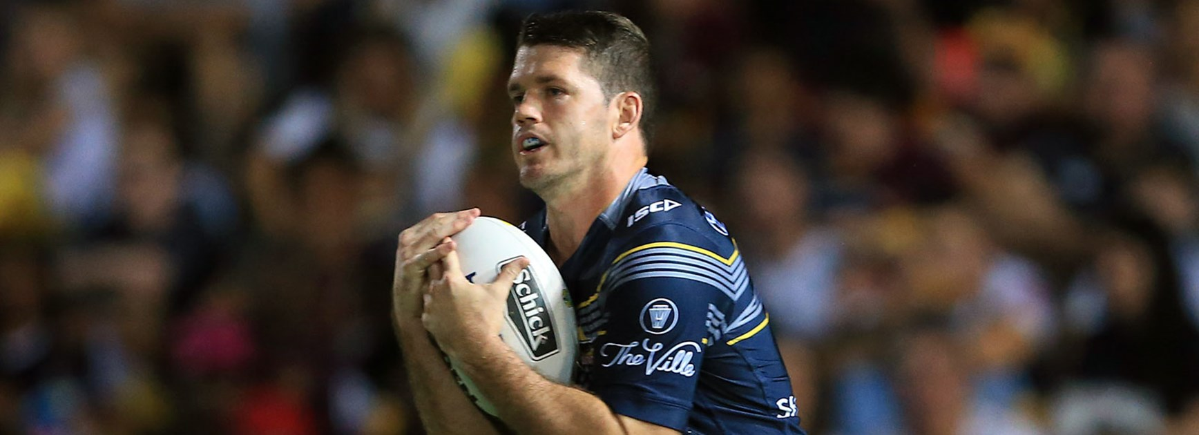 Cowboys fullback Lachlan Coote against the Broncos in Finals Week 2