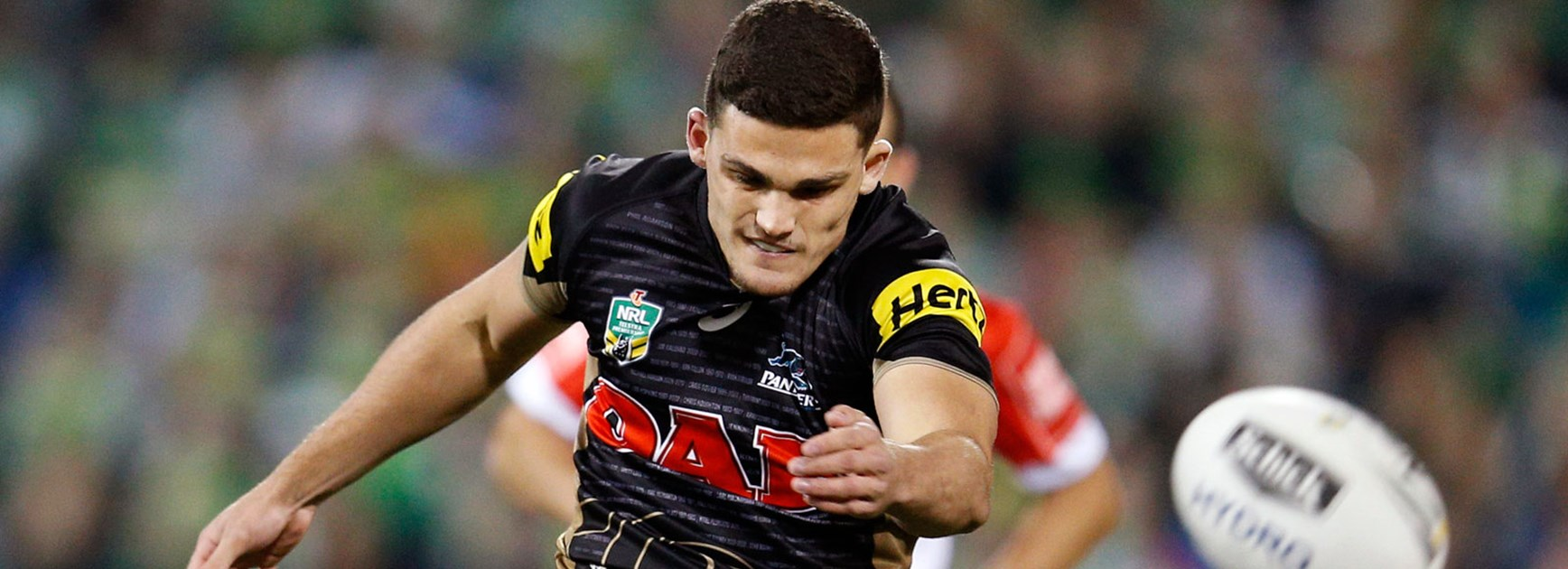 Panthers halfback Nathan Cleary against the Raiders in Finals Week 2.