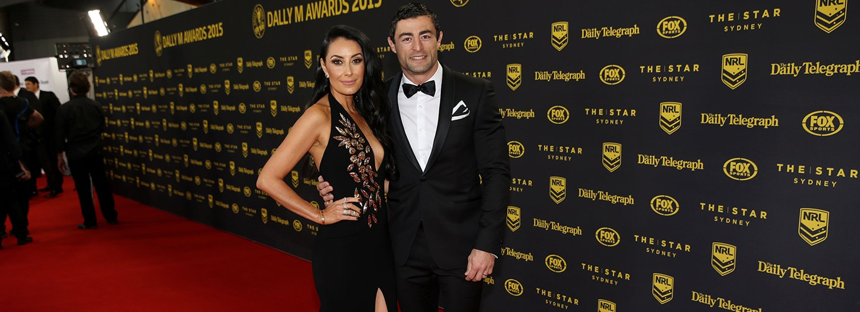 Terry Biviano and Anthony Minichiello on the Dally M Awards red carpet in 2015.