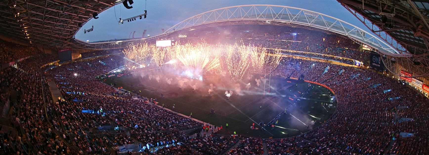 Pre-game show at the 2015 NRL Telstra Premiership Grand Final at ANZ Stadium.
