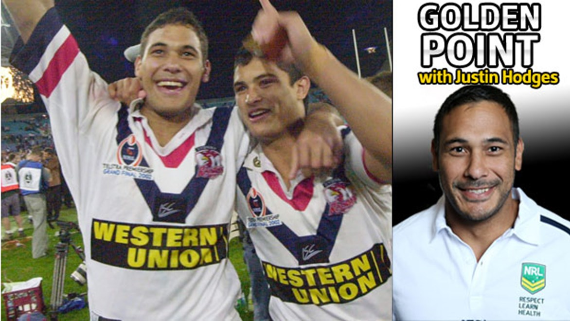 Justin Hodges recalls his grand final experiences with the Roosters and Broncos.