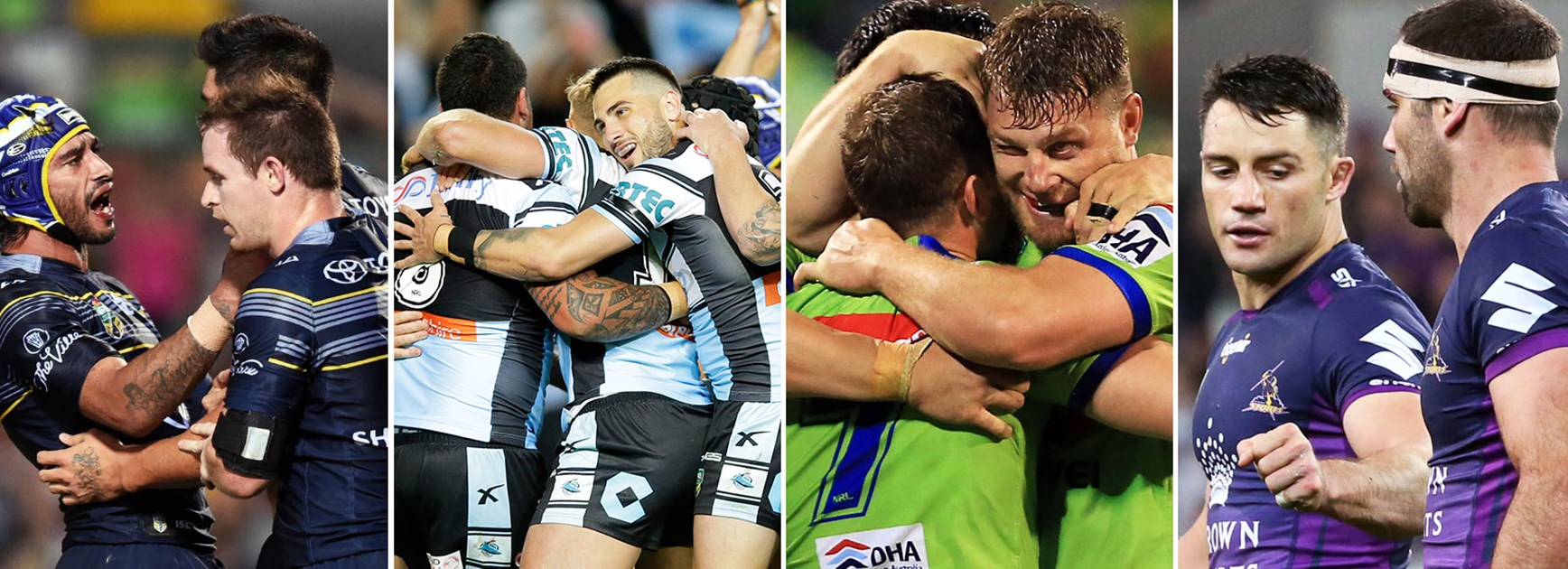 The Cowboys, Sharks, Raiders and Storm will be looking to remain at the top of the league next season.