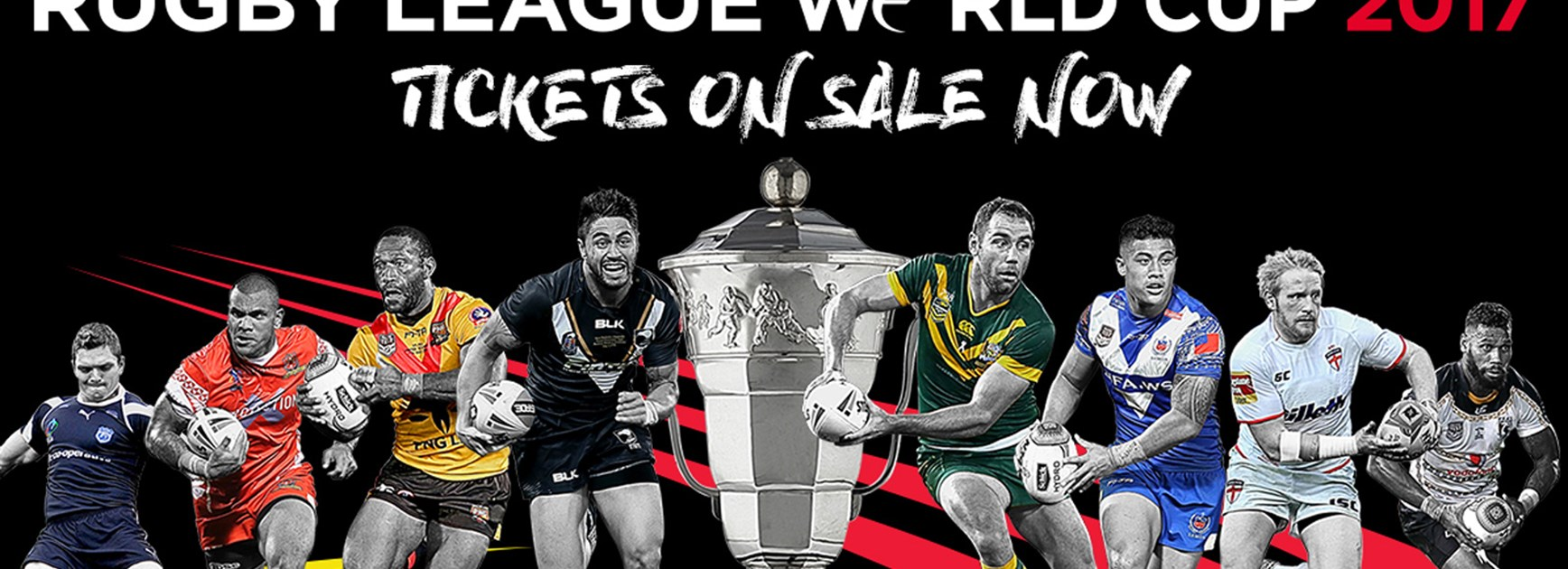 Tickets are on sale for the 2017 Rugby League World Cup.